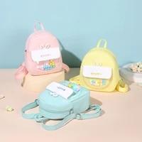 childrens leisure backpack summer 3d bunny ears lightweight cute toddler school bag durable large capacity kindergarten bag
