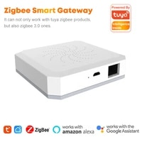 Tuya Zigbee Bridge Smart Home Zigbee3 0 Gateway Hub Wireless Wired Remote Controller Works with Alexa Google Home
