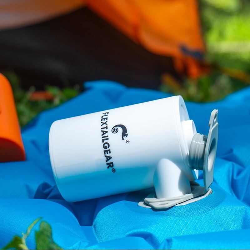 FLEXTAILGEAR Pompa Udara Kecil Portable Rechargeable Ultralight Mengembang untuk Tidur Pad Camping Kasur Mat Cincin Perahu