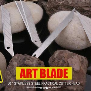 Image 5 - CNGZSY 1 шт. защелкивающийся нож + 50 шт. лезвий выдвижной художественный резак для ремонта окон скребок для очистки клея карандаш бумажный нож E02 + 5E03
