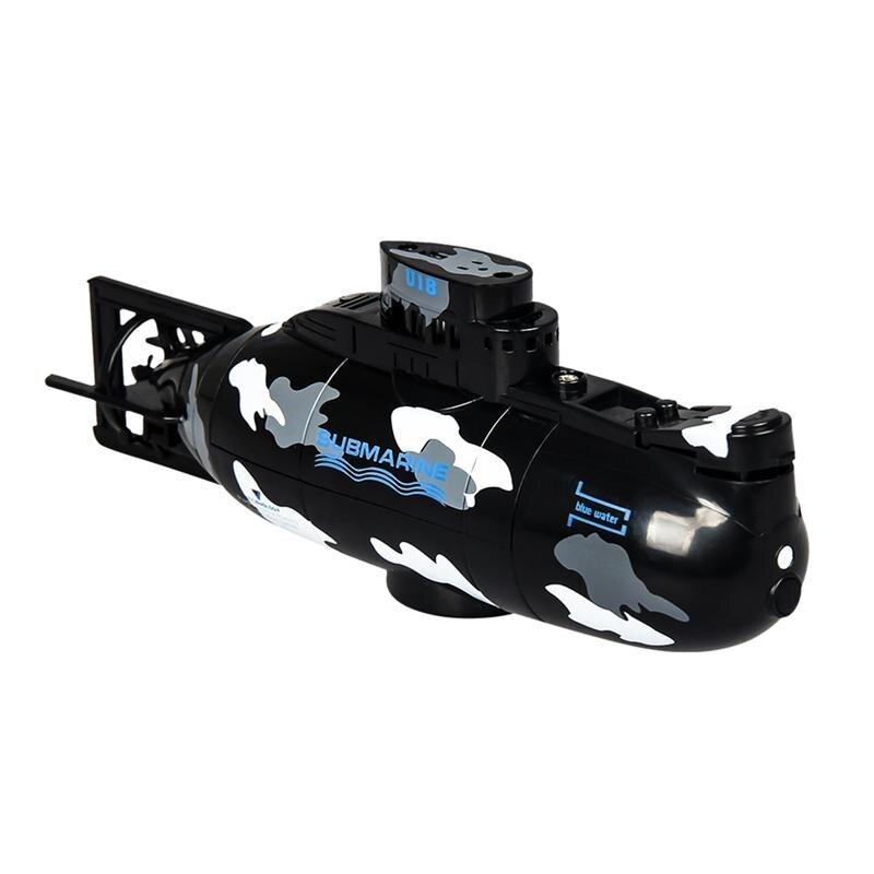 1Pc Mini submarino de plástico de Control remoto 3,7 V impermeable RC submarino de RC de juguete Mini barco para los niños regalo de cumpleaños al Aire Libre juegos al aire libre