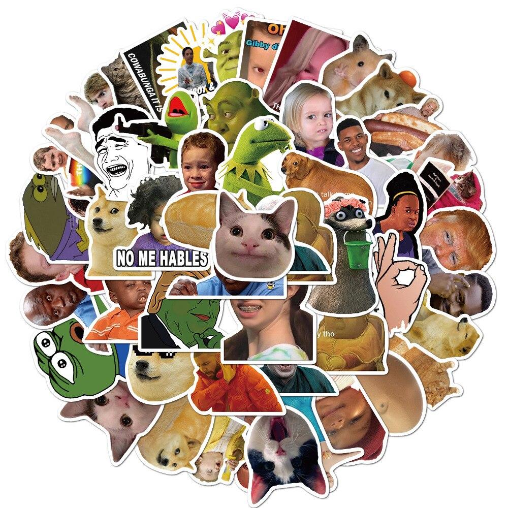 50pcs-adesivi-meme-divertenti-per-telefono-portatile-ablum-scrapbooking-skateboard-bagagli-moto-chitarra-graffiti-adesivi-decalcomanie