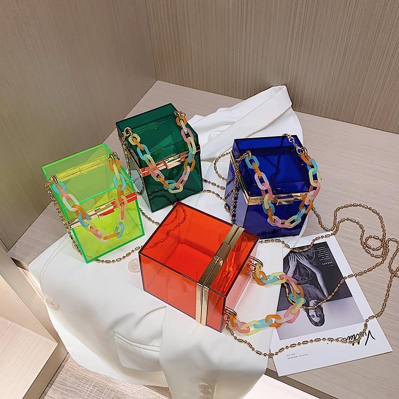 New Jelly Box Purses And Handbags Luxury Designer Bags For Women 2020 Women Purses Wholesale Handbags Crossbody Bag Chain Bag