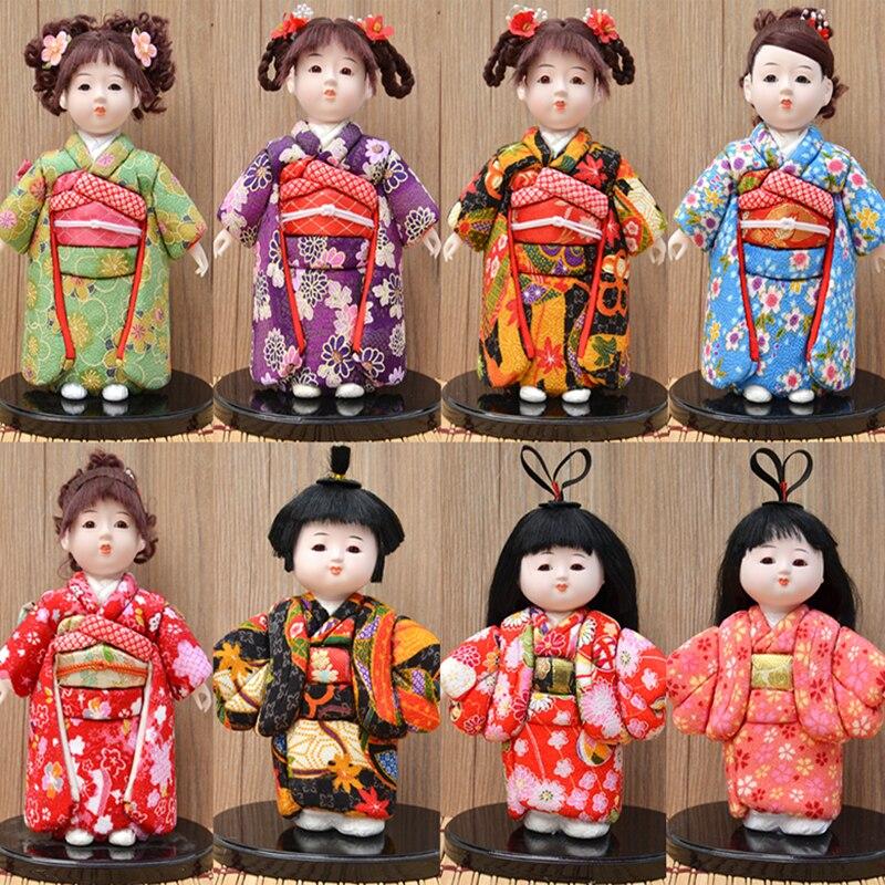 Retro japonés muñeca Geisha figuras de acción Kimono estatua figuras adornos para casa Hotel escritorio gabinetes de manualidades decorativas regalo