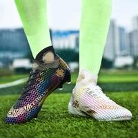 Men Soccer Boots Cleats Football Boots High Tops Long Spikes Outdoor Men's Training Shoes Sneaker Outdoor Turf Futsal 35-46