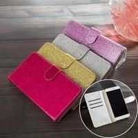 Glitter Flip Leder Brieftasche PU Fall Fur Sony Xperia Z3 Z5 Kompakte XZ XZ1 XZ2 XA1 XA2 Ultra XZ3 L2 l3 L4 1 II 5 8 10 Plus Abdeckung