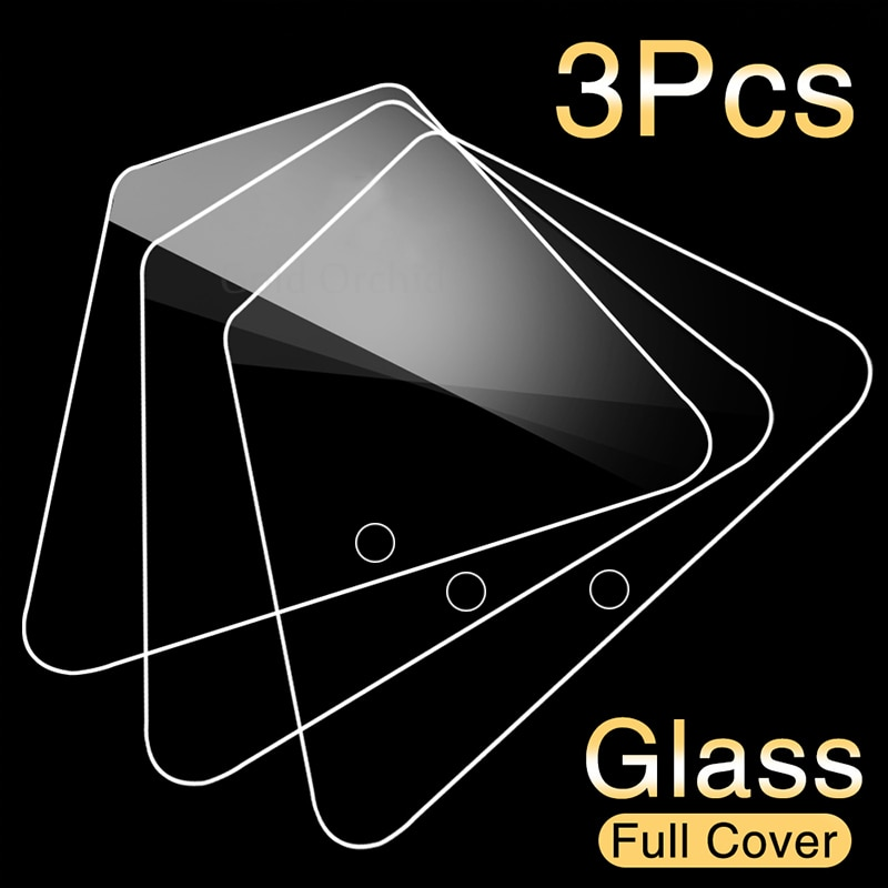 3 pçs cobertura completa de vidro temperado para xiaomi redmi nota 7 9s 5 8 pro 8t 9 pro max protetor de tela para redmi nota 6 pro filme de vidro