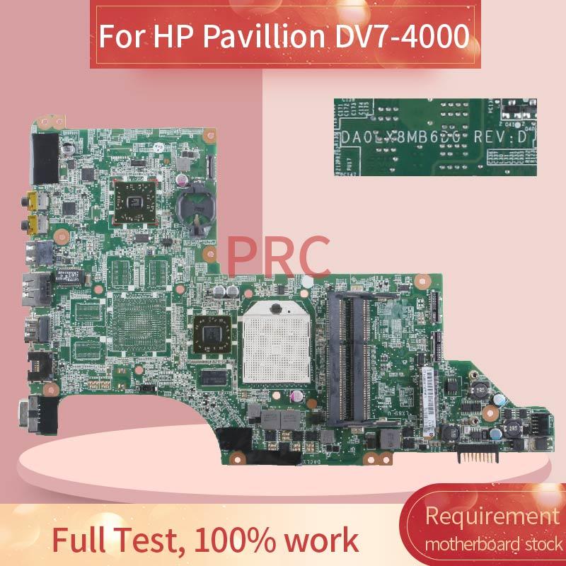 605496-001 605496-501 ل HP بافيليون DV7-4000 دفتر اللوحة الرئيسية DA0LX8MB6D1 AMD DDR3 اللوحة الأم للكمبيوتر المحمول