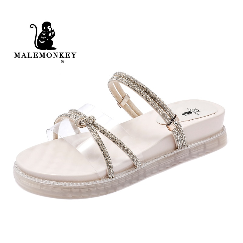 Women Summer Thick Bottom Shoes Casual Elegant  Walking Shoes Ladies Open Toe Comfortable Sport Sandals Indoor Non Slip Slippers