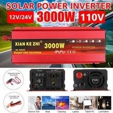 1600/2200/3000W Watt DC 12V 24V zu AC 220V Tragbare Auto Power Inverter ladegerät Konverter Adapter zu AC 220 Modifizierte Sinus Welle