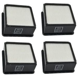 4 Packs Replacements for Dirt Devi1 F66 (F-66) Allergen HEPA Filters with Foam Insert F66 Filter & Foam
