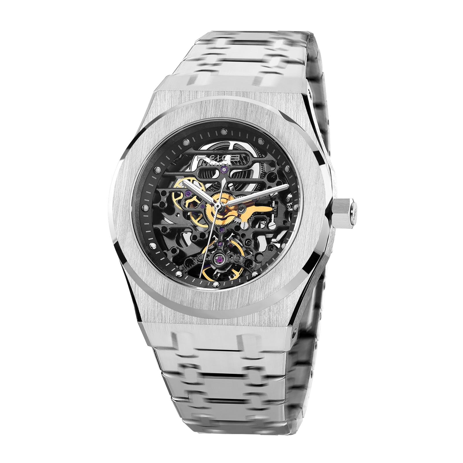 FEICE Sports Automatic Watch Men's Skeleton Mechanical Watch Waterproof Openwork Sapphire Crystal Wrist Watches for Men FM019HOT