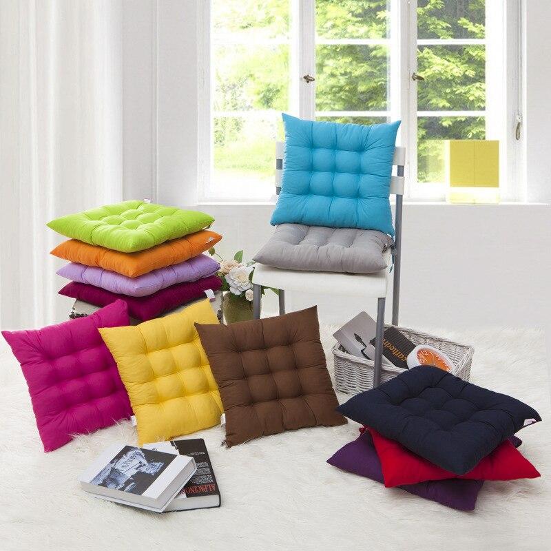 Coussin de siège pour chaise de bureau   Ver solide, coussin de siège pour enfant et adulte, coussin de canapé confortable, coussin de chaise carré, coussin de sol, tapis de voiture