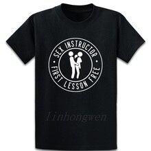 Instructeur de sexe t-shirt cadeau naturel respirant coton tenue printemps col rond imprimé chemise