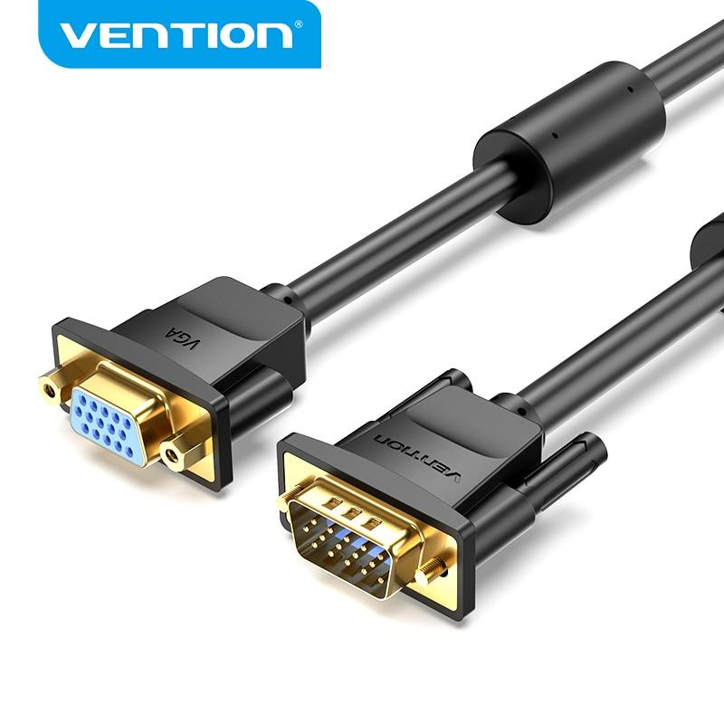 Vention-Cable de extensión de macho a hembra VGA a VGA, extensor 3...