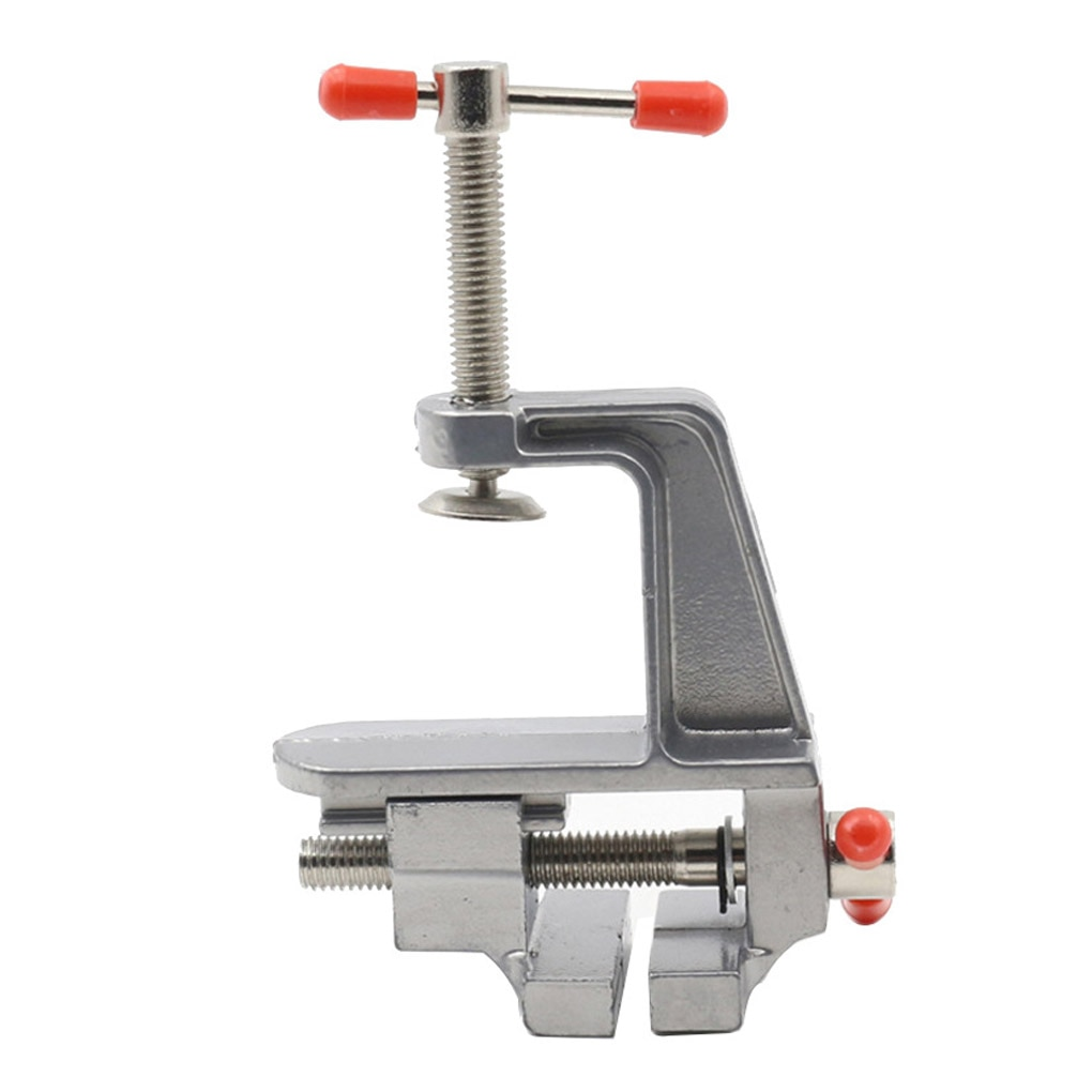 Mini Table Bench Vise Small Aluminum Alloy Table Vice Clamp Muliti-Funcational DIY Engraving Drilling Clamping Fixture Tools
