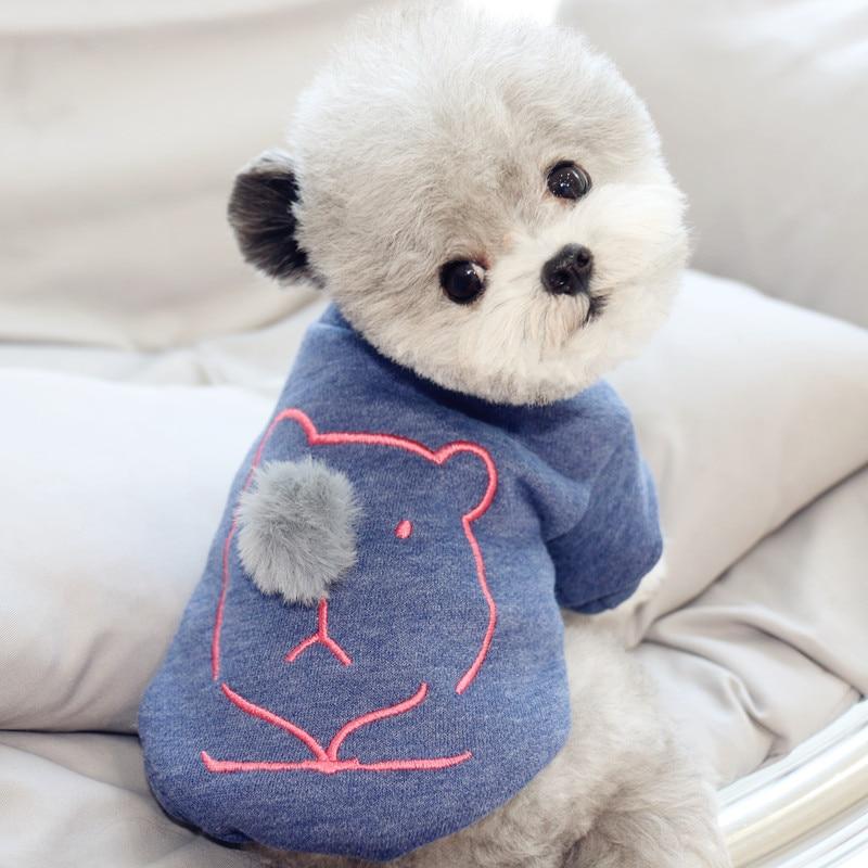 Bonito nariz francês bulldog roupas café azul xs xl duas pernas pet cachorro casaco camisa outono inverno gato roupa trajes pequeno animal