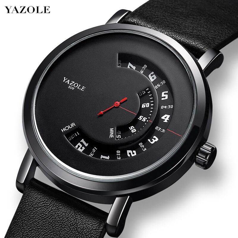 YAZOLE New Fashion Wrist Watch For Men Waterproof Hollow Quartz Casual Sport Wristwatch Montre Homme Relogio Masculino