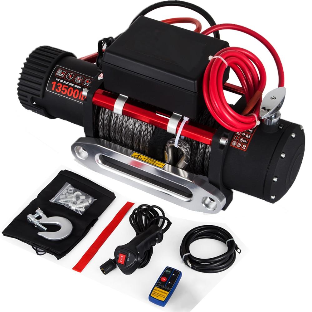 VEVOR 13500LBS 12 فولت ونش كهربائي + 27 متر حبل اصطناعي ، التحكم اللاسلكي ، ل ATV SUV قارب شاحنة مقطورة الانتعاش قبالة الطريق ونش
