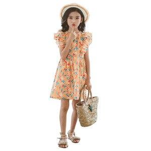 2021 flower mother Summer Beach Dresses for Girls Off Shoulder Dresses For Girls Teenage Kids Girls Clothes 6 8 10 12 12 Year