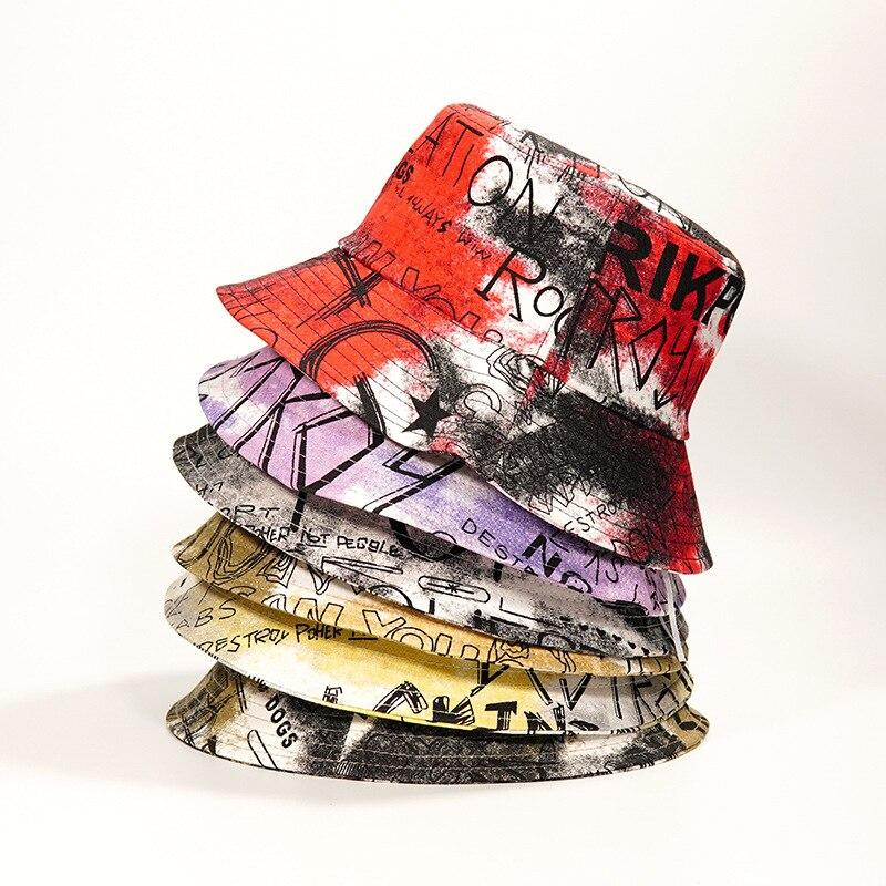 Панама с граффити и надписью для мужчин и женщин, модная Панама с краской в стиле ретро, уличная шляпа от солнца, кепка для рыбалки, весна-лет...