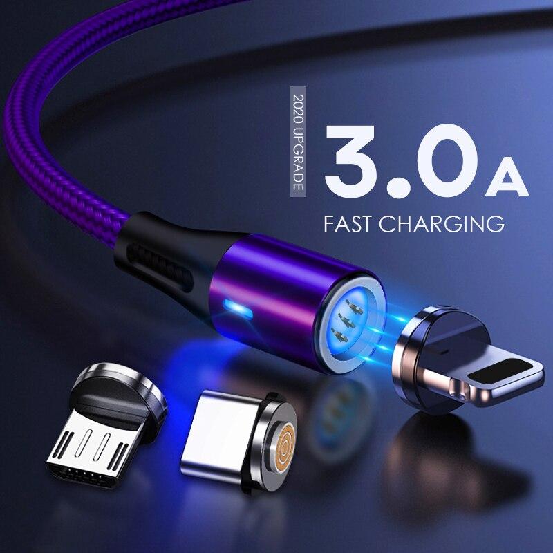 Cable Micro USB 3,0 magnético de 8 pines para iPhone, Samsung y...