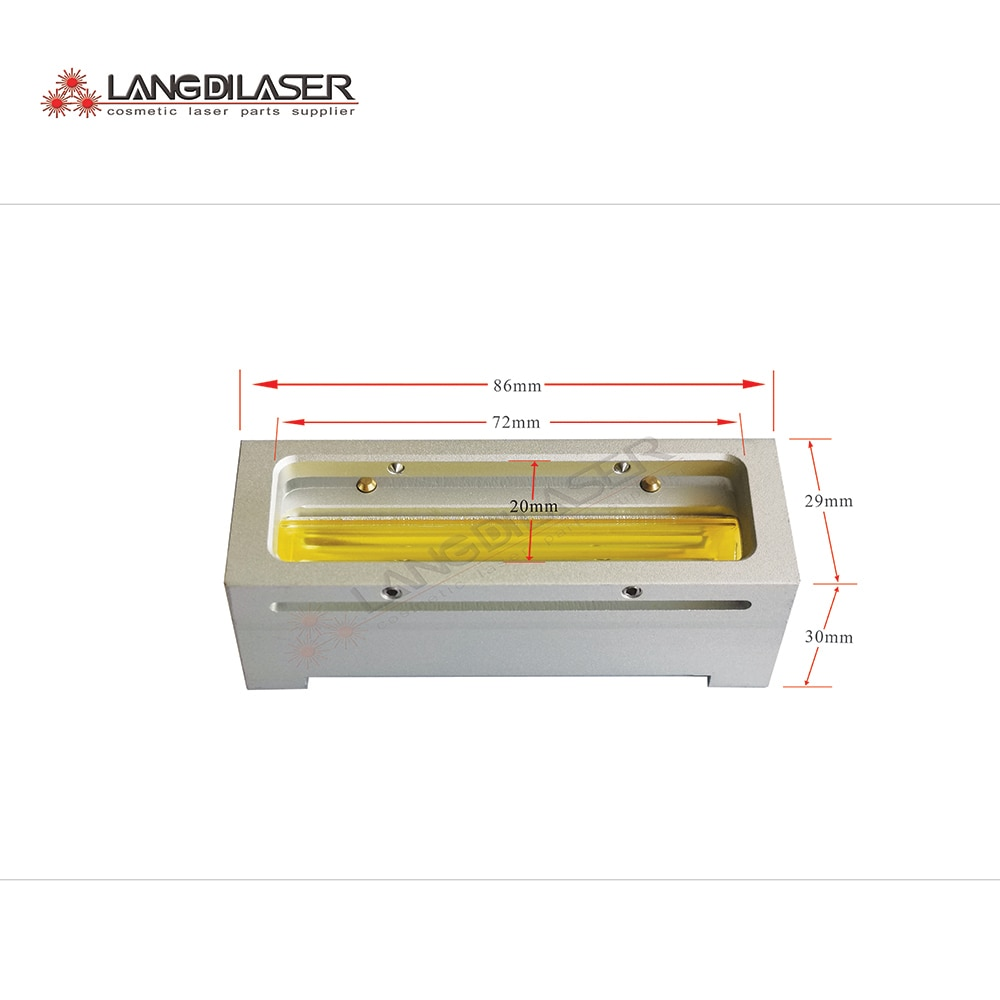 E-light handle reflection cavities (100 pcs order) for filter changeable handle , include lamp flow tube,reflector, aluminum .