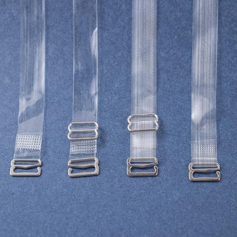 1/2/3 Pairs/set Clear Bra Straps Transparent Invisible Detachable Adjustable Silicone Women's Elastic Belt Intimates Accessories