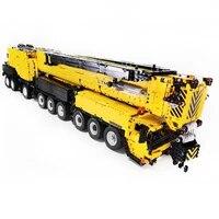 7668pcs diy moc small particles 120 2 4g rc mobile all terrain crane ltm1750 9 1 building blocks construction vehicle kit