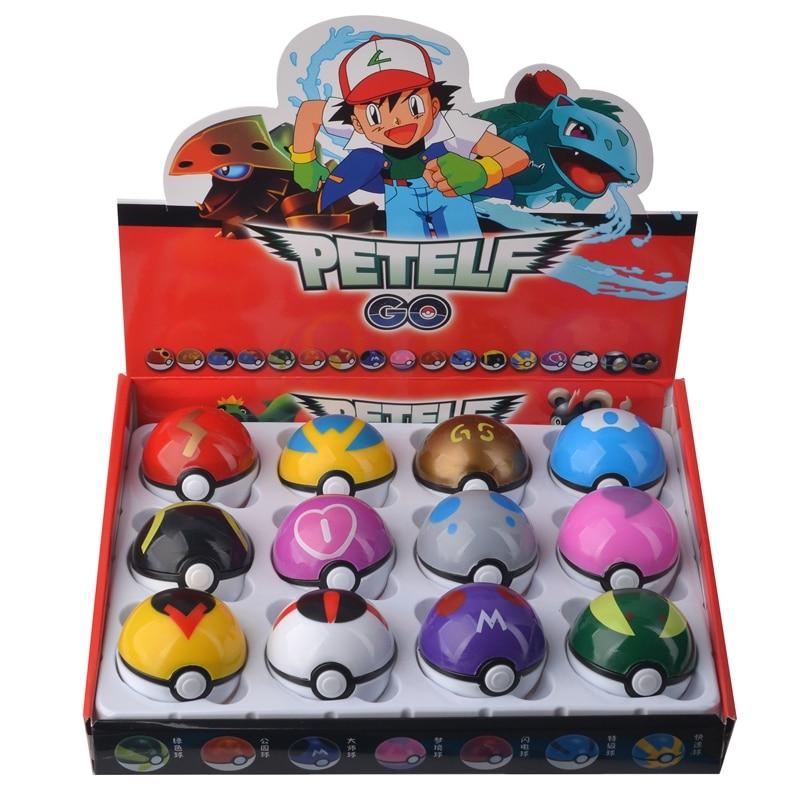 Pokebolas Pokemon em tamanho real 12 Pcs/Set