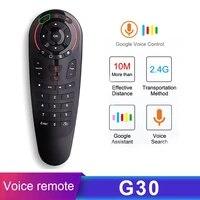 Smart Home Air souris Android TV Google Assistant G30A 433 Mhz IR voix telecommande universelle commutateur Netflix pour TV Box
