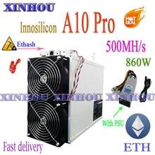 INNOSILICON A10 Pro 500M Ethash miner Mit NETZTEIL ETH ETC Miner besser als PandaMiner B3 Antminer E3 S19 T19 s17 M31S M30S T3 A9 +