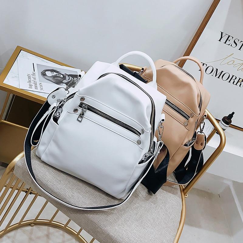 Женская модная кожаная сумка для ноутбука, рюкзак для учеников школы, повседневная женская сумка на молнии для путешествий и кемпинга