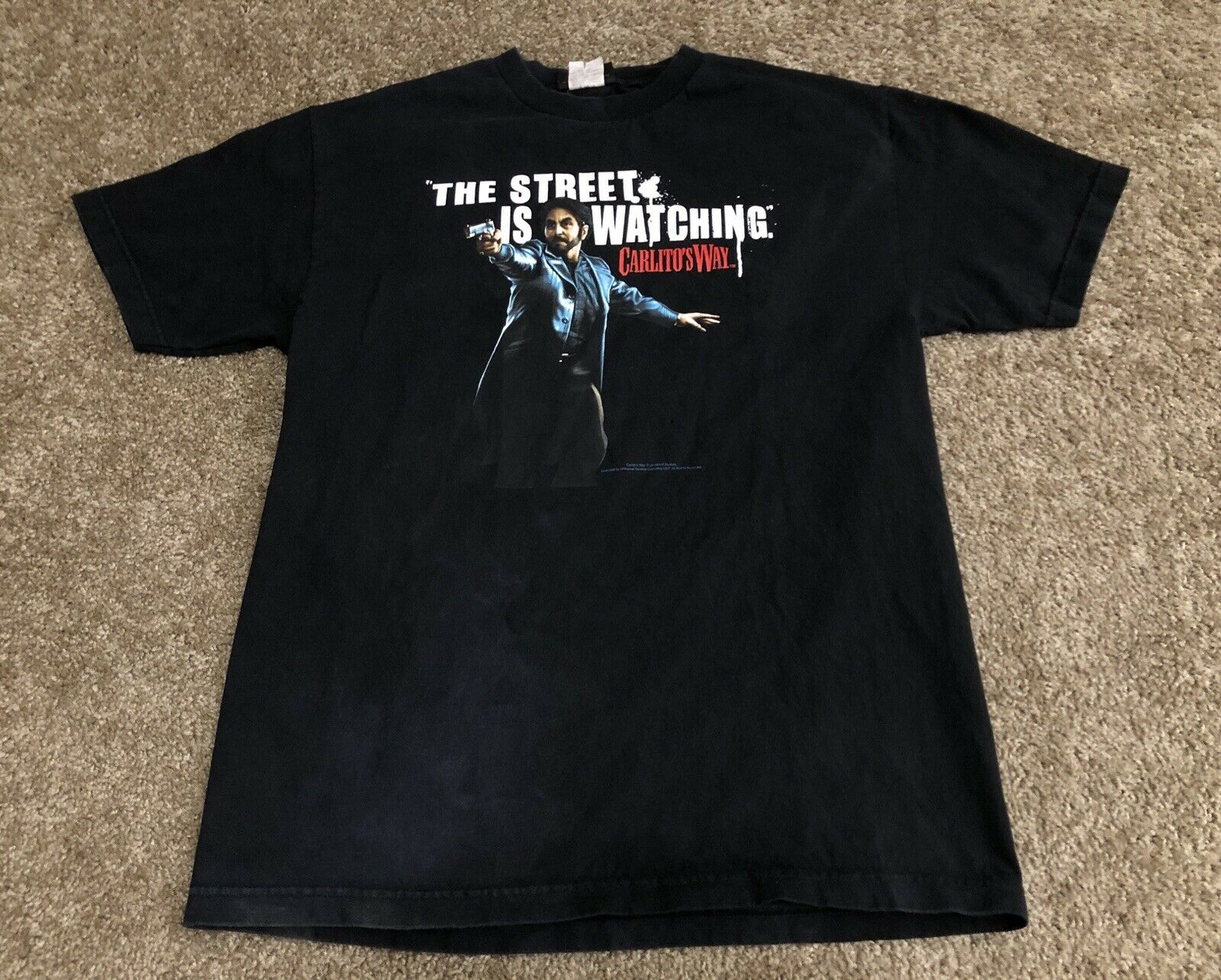Vintage Carlitos façon Film Promo t-shirt hommes S Sz L Vtg Al Pacino Film t-shirt Rare