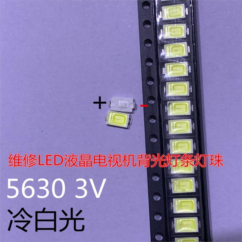 200 piezas SAMSUNG 5630 6030 TV 5730 luz de fondo LED 0,5 W 5630 3V luz de fondo blanca fría LCD led 2D