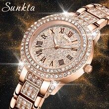 LIGE Watch Sunkta Women Watches Women Fashion Clock 2021 Ladies Watch Luxury Brand Diamond Quartz Wr