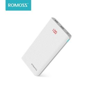 Внешний аккумулятор ROMOSS 20000 мАч, 2 порта USB с функцией быстрой зарядки, 3 цвета