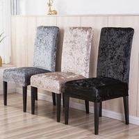 1246 pieces velvet shiny fabric cheap chair covers universal size stretch chair covers seat case slipcovers for dining room