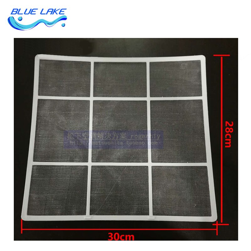 Filtro para aire acondicionado, tamaño 30X28CM, para Midea, red para polvo de la máquina montada en pared, filtro de nailon, accesorios para electrodomésticos