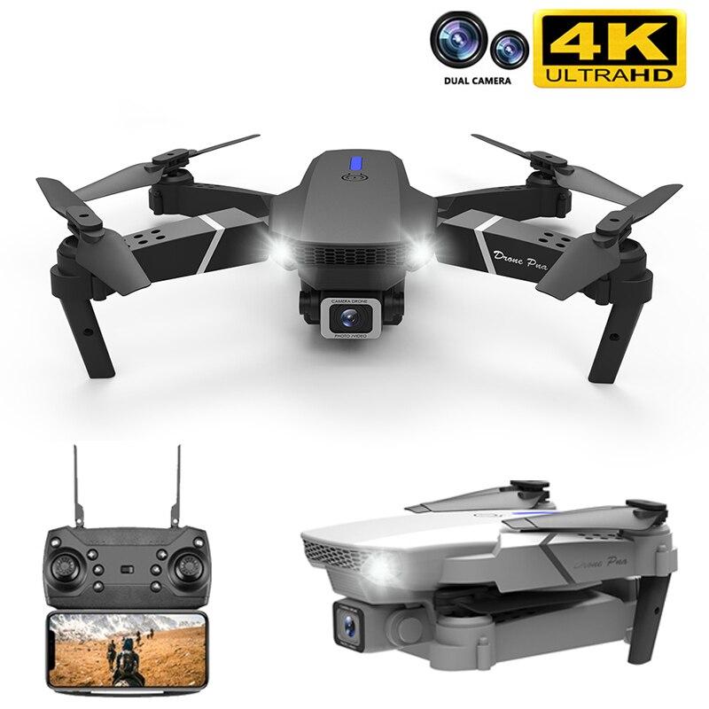 2020 جديد E88 برو Rc الطائرة بدون طيار مع واسعة الزاوية HD 4K 1080P Wifi Fpv كاميرا مزدوجة ارتفاع عقد طوي Quadcopter البسيطة Drone هدية اللعب