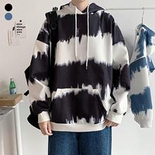 Men Women Long Sleeve Oversized Hoodie Tie Dye Gradient Color Pocket Sweatshirt
