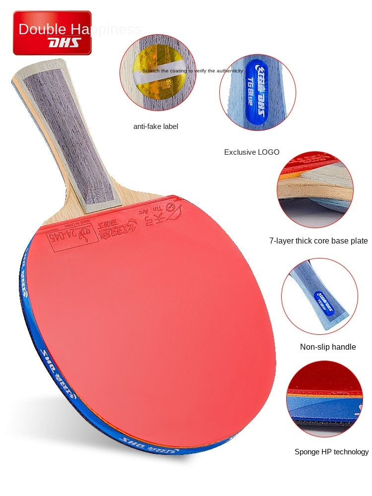 Table Tennis Rackets Eight-Star Professional Celestial Pole Blue Single Shot Table Tennis Racket Pen-Hold Grip Hand-Shake Grip