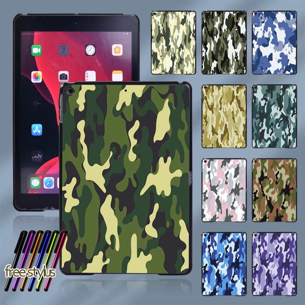 Plastic Tablet Hard Shell Cover Case for Apple IPad 8 2020 8th Generation 10.2 Inch Tablet Protective Case + Free Stylus