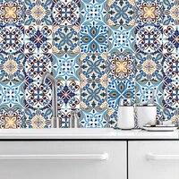 Bande autocollant mural placard salle de bains cuisine decoration papier peint Peel   Stick vinyle maroc Style retro Art mur Dec etanche