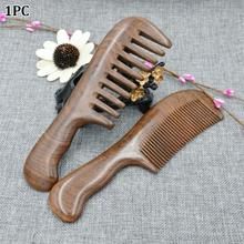 Home Natural Sandalwood Comb Massage Hair Tools Women Wooden Salon Waist Fragrance Anti Static Long Wide Tooth Detangle