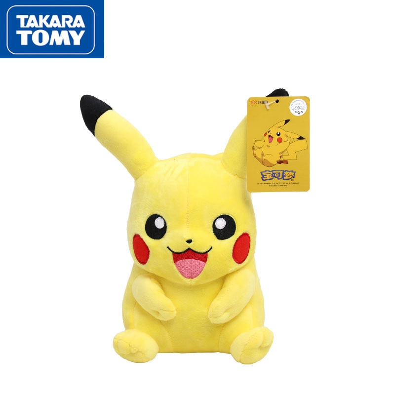 Takara Tomy Pokemon 20cm-30cm Plush Doll Toy Cute Pikachu Pokemon Doll Cartoon Plush Toy Doll Doll Doll Pillow cute resin bride and bridegroom toy doll