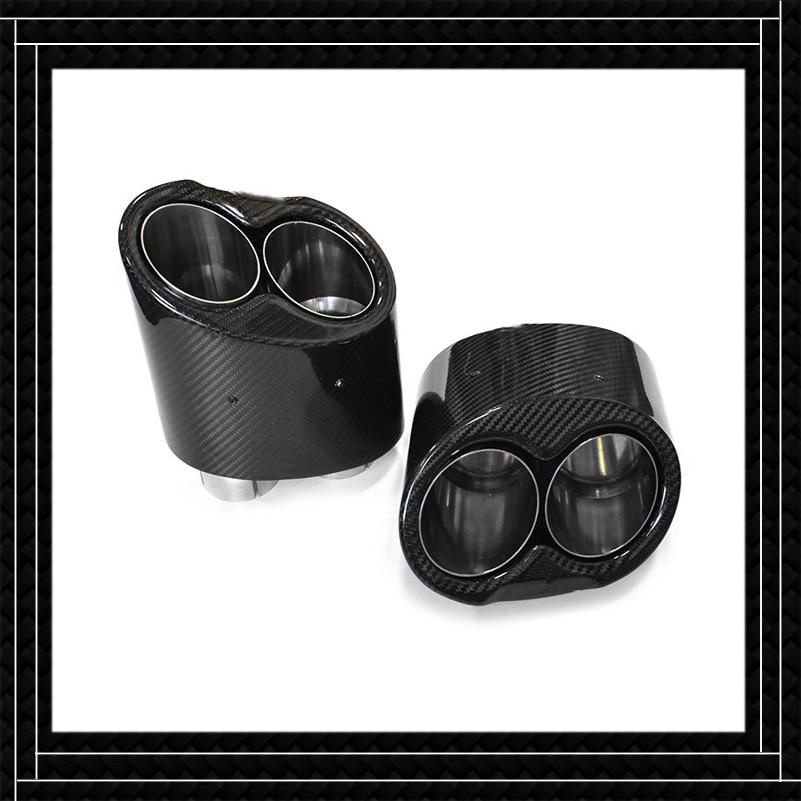 طرف كاتم للصوت طراز السيارة لـ RS3 RS4 RS5 RS6 RS7 RS8 A3 A4 A5 A6 A7 A8 مصنوع من ألياف الكربون الفولاذ المقاوم للصدأ لأنابيب العادم Akrapovic