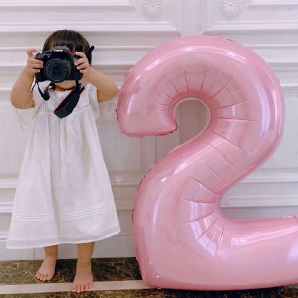 Papel de plata rosa azul Pastel para globo con de 1, 2,...