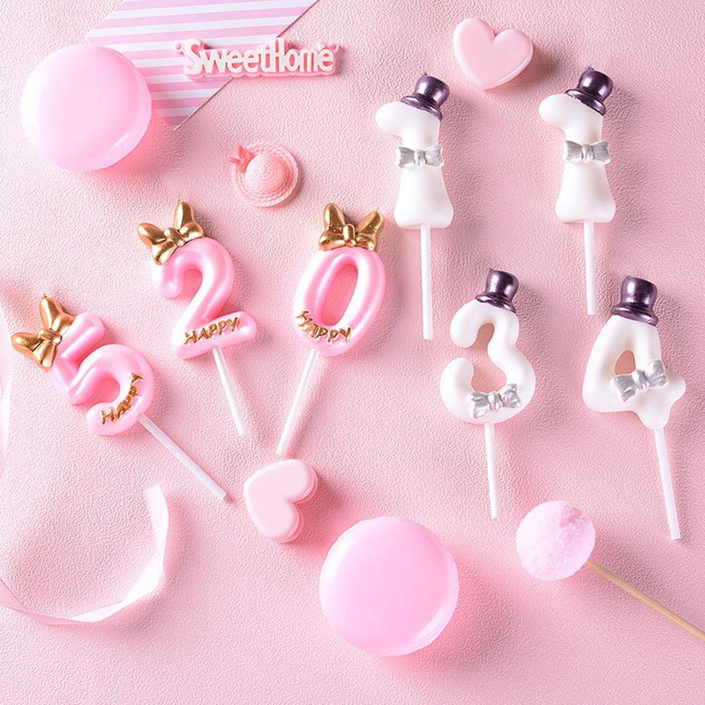 Pink blue birthday candle big cake candle topper smokeless number 0-9 candle decoration birthday girl boy wedding decoration candle birthday girl decoration birthday supplies cake candle cake decorating princess girl pumpkin car birthday candle