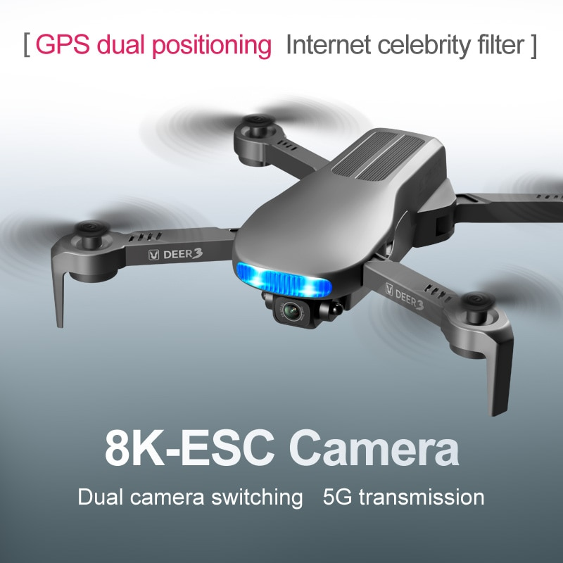 New LU3 MAX Gps Drone 8K Hd Dual Camera Profesional Helicopter  Fpv Dron Foldable Rc Quadcopter 5G Wifi Brushless Motor Drones enlarge